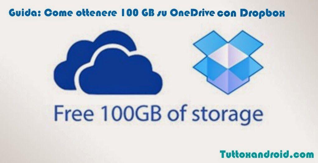 Come ottenere 100 GB su OneDrive con Dropbox