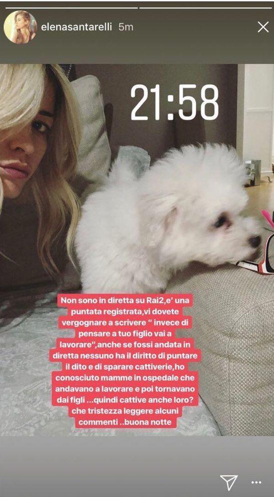Elena Santarelli accusata : Sei una cattiva madre