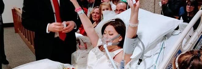 Heather Rebeccah Mosher : Malata terminale  si sposa e muore 24 ore dopo