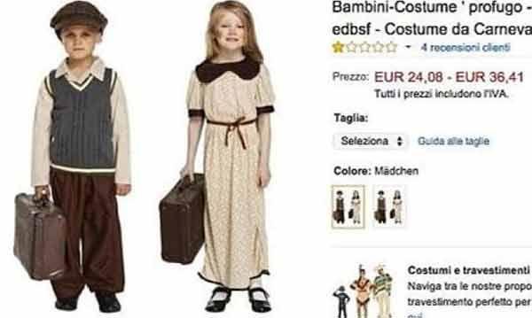 Carnevale : Amazon e il costume da piccolo profugo!