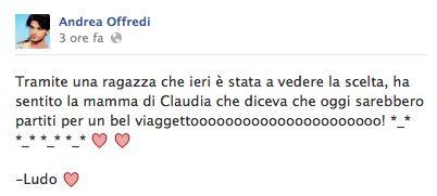 Uomini e Donne : Andrea e Claudia già in viaggio post-scelta!