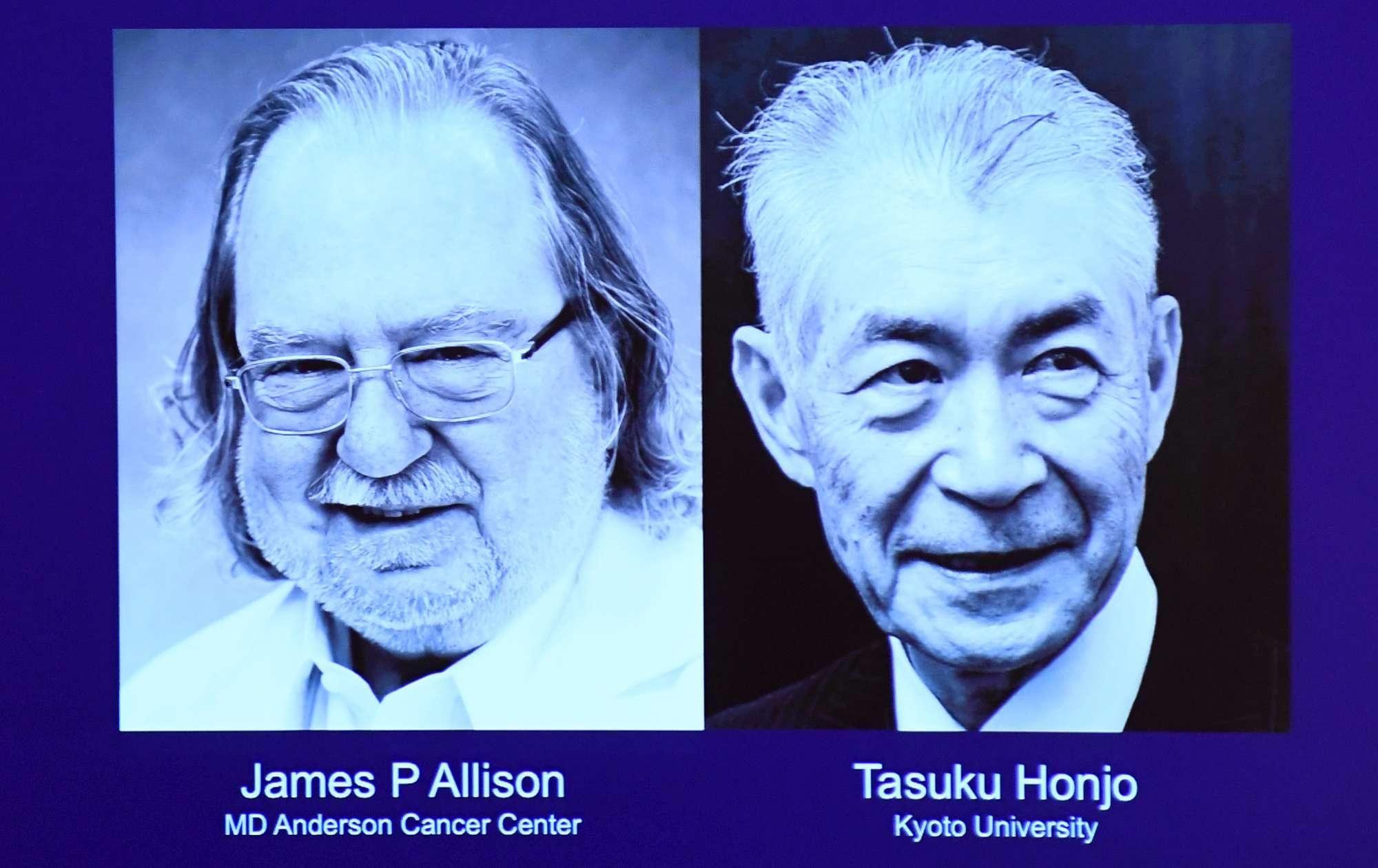Nobel per la Medicina a Allison e Honjo per le terapie anticancro