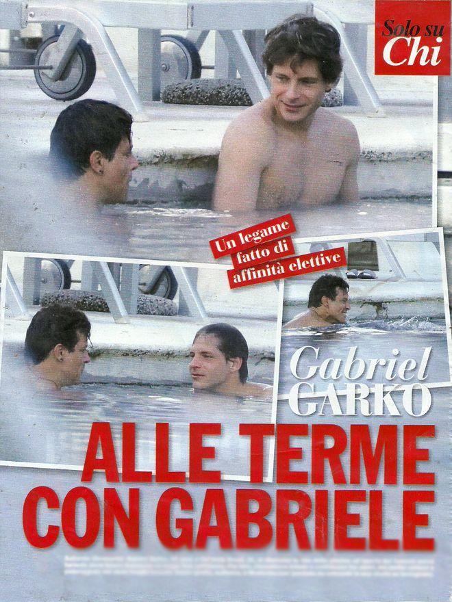 Relax con l'amico alle terme! Gabriel Garko e Gabriele Rossi in piscina
