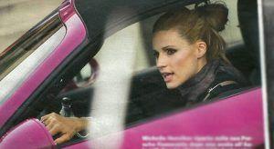 Michelle Hunziker e la Porsche rosa... non la userà più