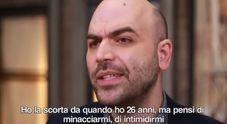 La replica di Saviano a Salvini sulla scorta : Vuoi togliermi la scorta? Non ho paura di te, buffone