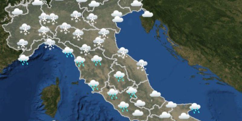 Previsioni meteo in Italia per domani giovedì 1 marzo : neve nel Nord Italia