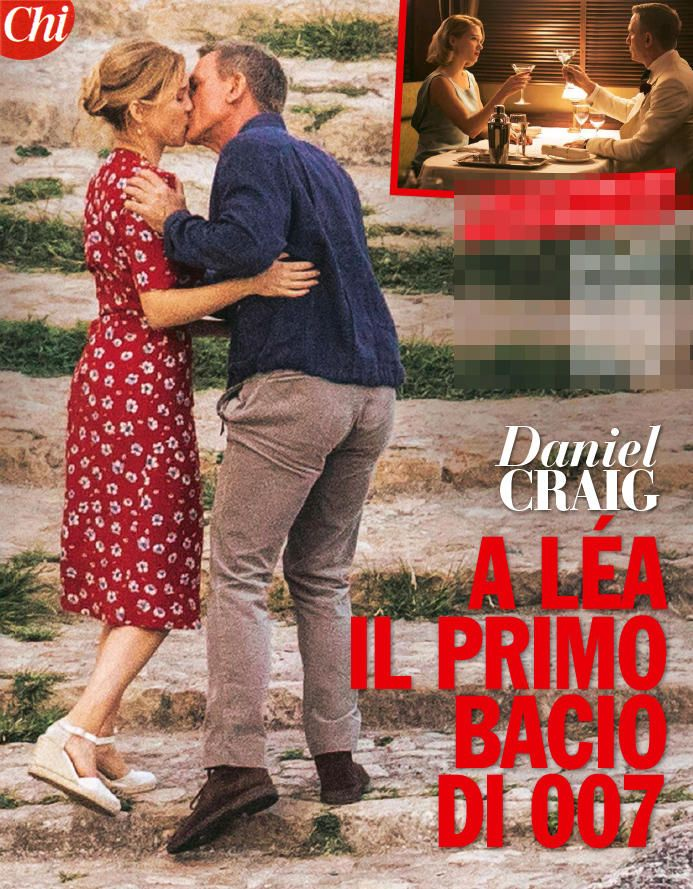 Ecco il primo bacio sul set per James Bond - Daniel Craig e Léa Seydoux