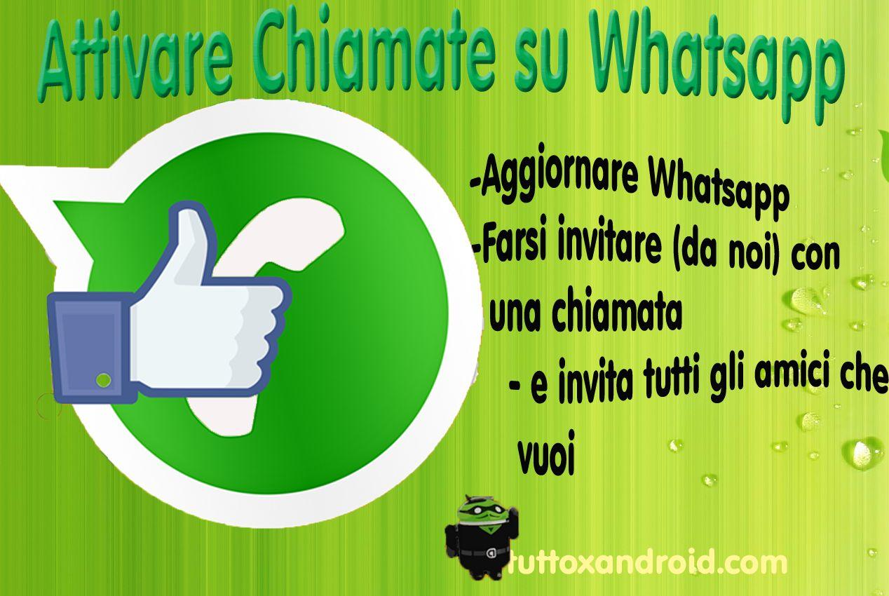 Attivare le chiamate Whatsapp e farsi invitare?