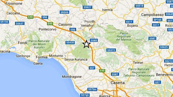 Terremoto Oggi in Campania magnitudo 3.5 : Scossa avvertita anche in Lazio