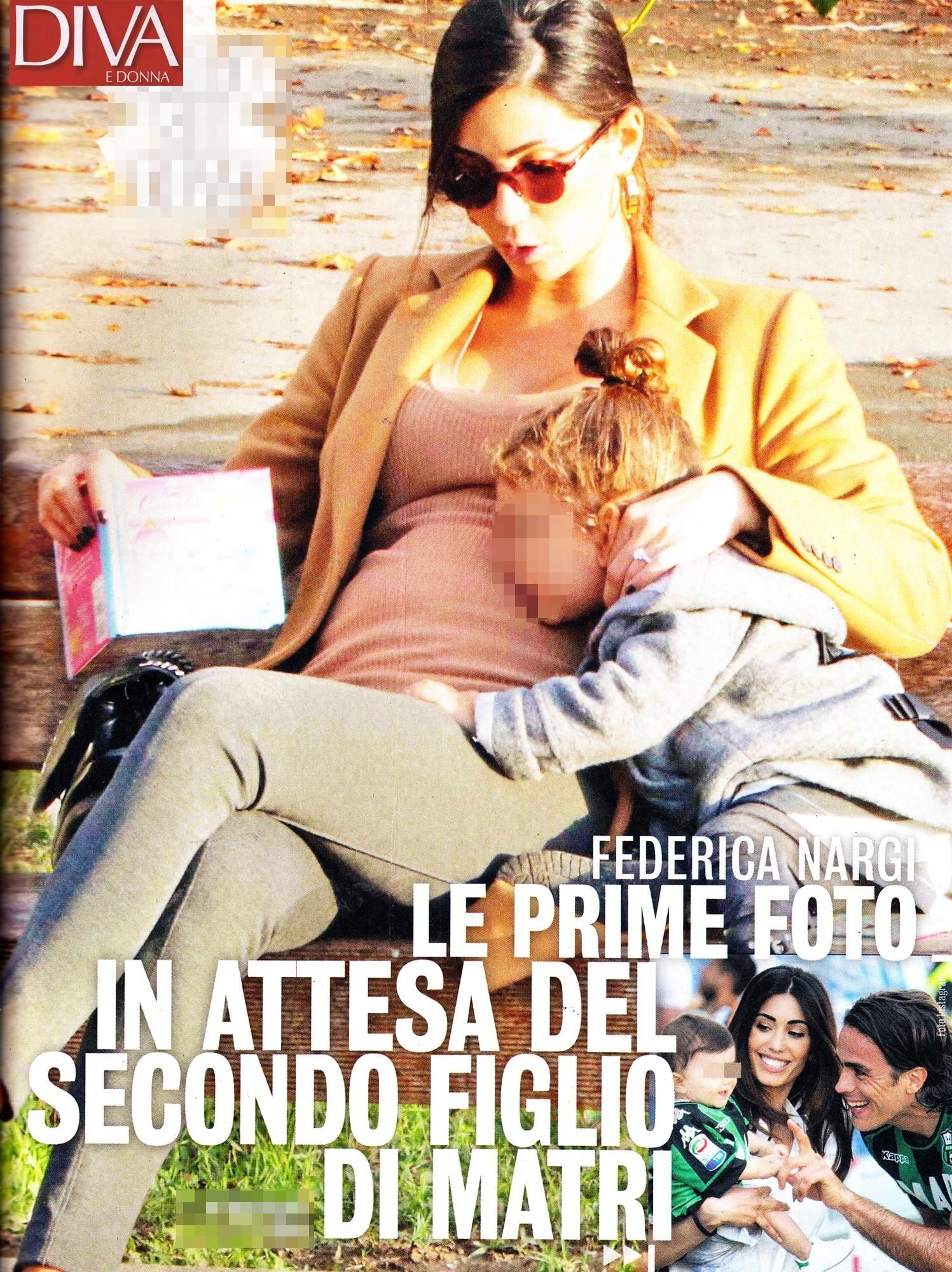 Federica Nargi incinta : le prime foto col pancino al parco con la figlia