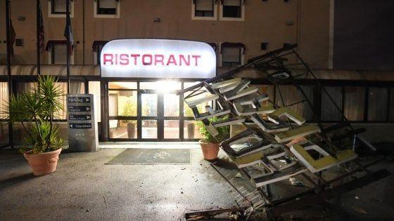 Tromba d'aria a Caserta : otto feriti, le spaventose immagini