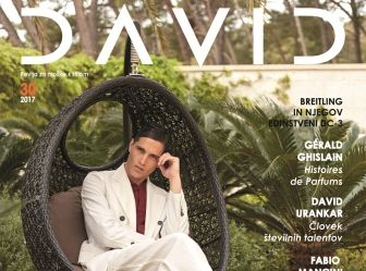 FABIO MANCINI: cover per il 30th anniversary edition SS 2017 del magazine David in Giorgio Armani
