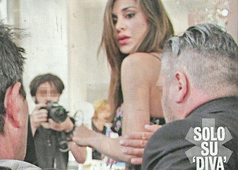 Belen Rodriguez aggredisce il paparazzo e gli strappa gli occhiali