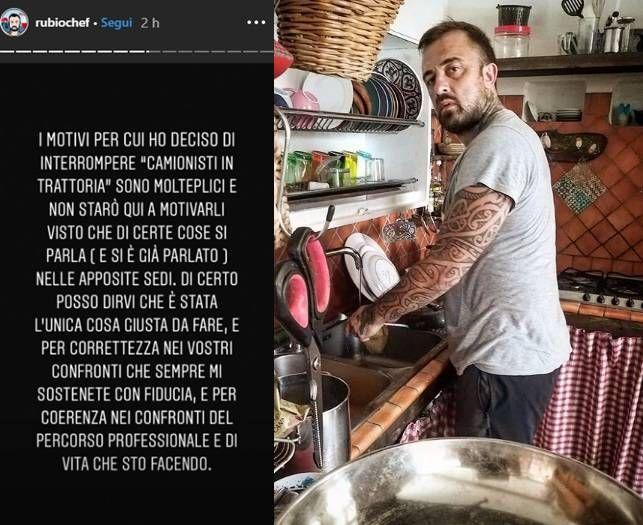 Ho lasciato io, ero nervoso! Chef Rubio conferma l'addio alla tv