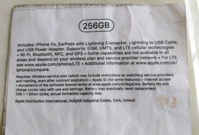 Appare in rete la scatola ufficiale dell' iPhone XS