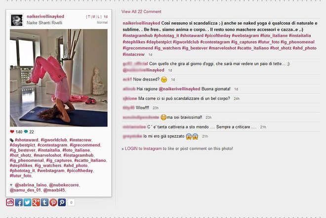 Naike Rivelli : La figlia di Ornella Muti in topless su Instagram