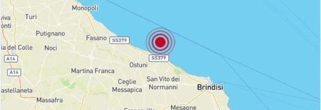 Terremoto, forte scossa in Puglia magnitudo 3,9 avvertita Ostuni, Brindisi, Bari e Lecce