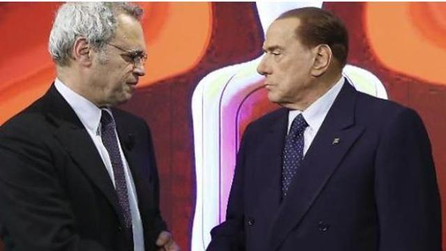 Silvio Berlusconi a Enrico Mentana : Ma lei lo sa con chi sta parlando?