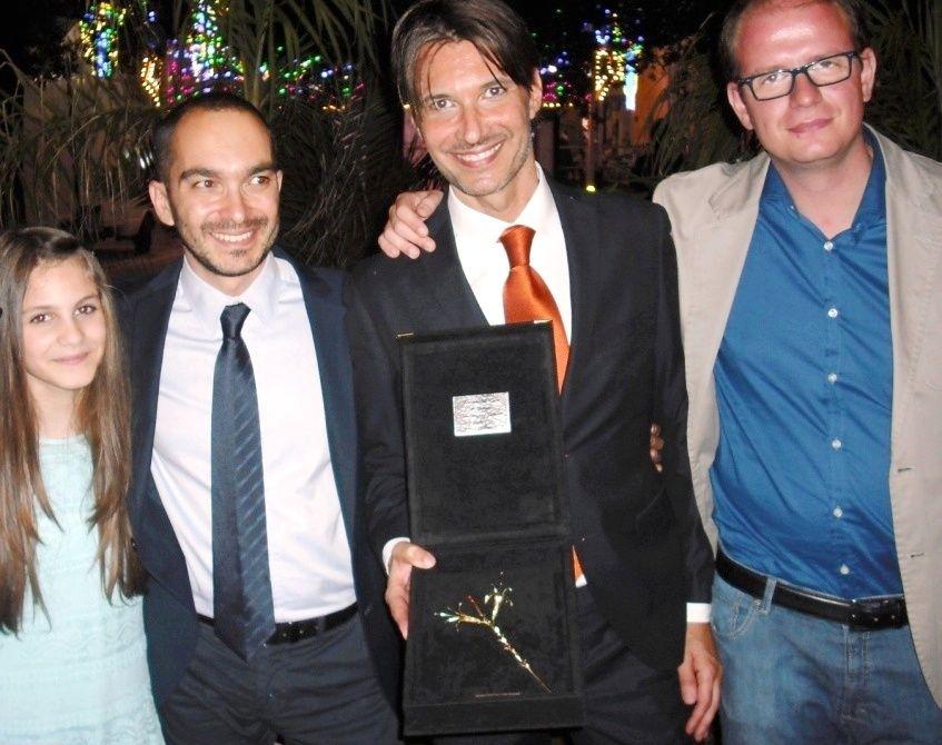 Matteo Tosi premiato con il Giglio d'oro 2015 ad Avetrana
