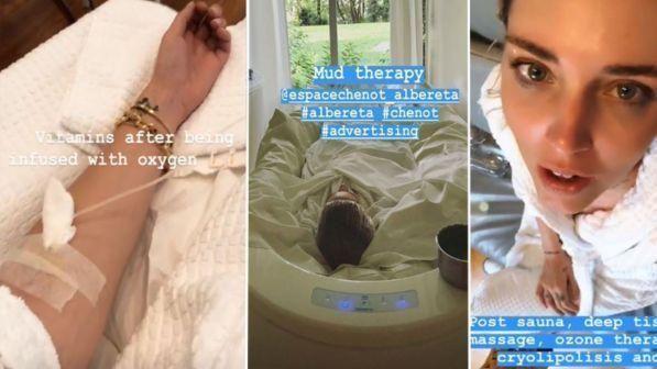 Chiara Ferragni senza Fedez ... Massaggi, allenamento e flebo di vitamine