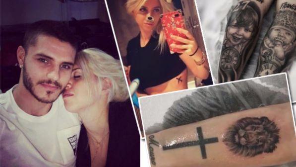 Wanda Nara e Mauro Icardi : nuovi tatuaggi per la coppia social