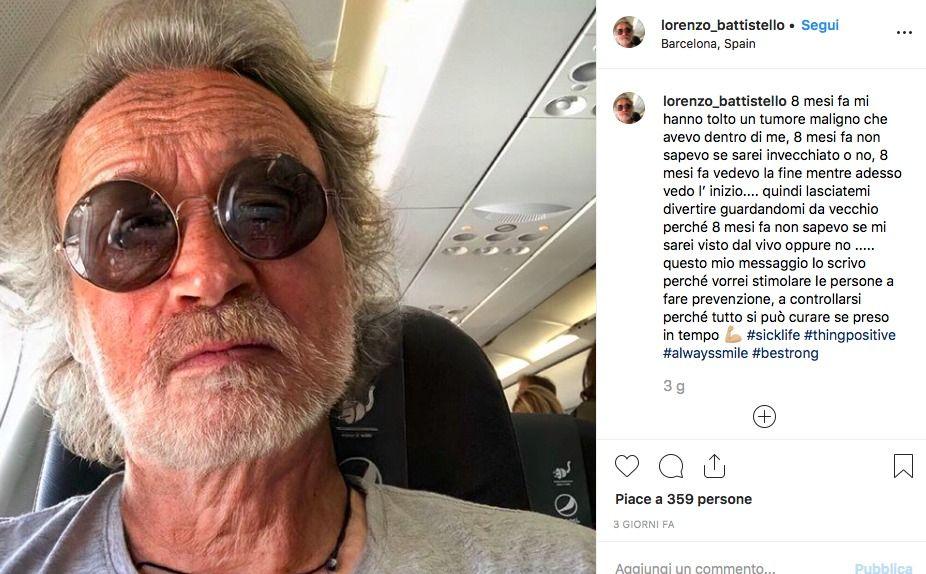 Lorenzo Battistello del Grande Fratello : ho avuto un tumore maligno
