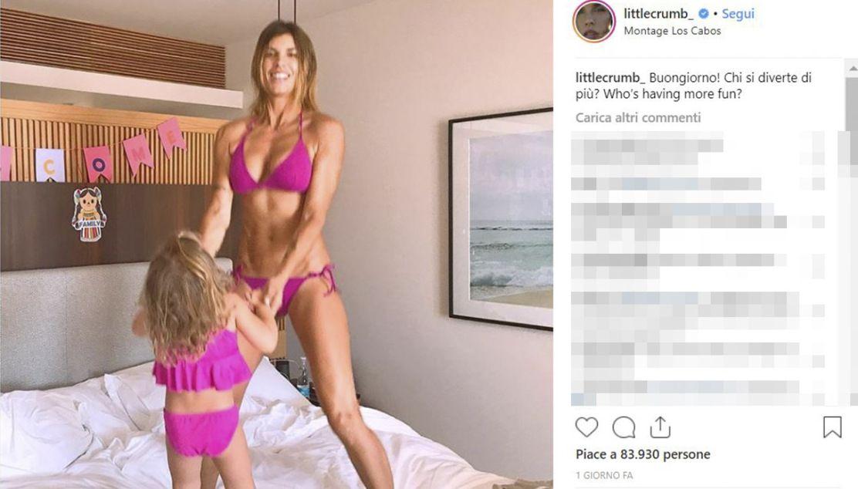 Elisabetta Canalis su Instagram splendida in bikini a 40 anni