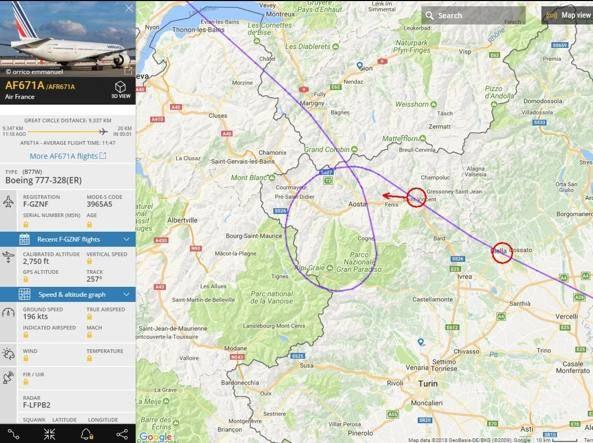 Nord Italia : allarme per due forti boati, Jet Eurofighter per volo AirFrance