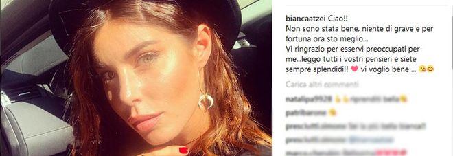 Bianca Atzei sta meglio : Non sono stata bene, niente di grave