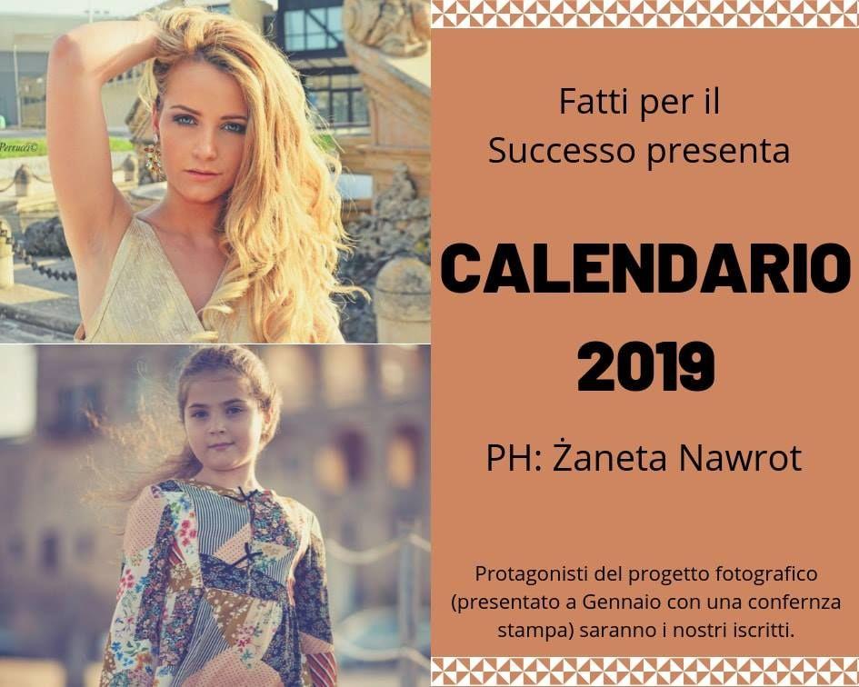 Il primo calendario dell'Academy Fatti per il Successo porta la firma della fotografa Zaneta Nawrot