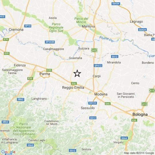 Terremoto : scossa di magnitudo 3.7 in provincia di Reggio Emilia