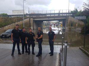Ancona : I poliziotti che hanno salvato due vite da un sottopasso allagato