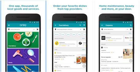 Con Google Areo cibo e idraulico a domicilio