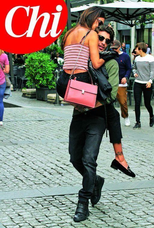 Belen Rodriguez e Andrea Iannone fanno le prove di matrimonio a Milano