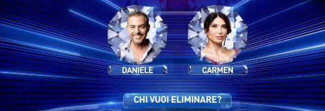 Grande Fratello Vip : nomination per Carmen Di Pietro e Daniele Bossari - Eliminata Serena Grandi