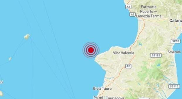 Terremoto Oggi Calabria : Scossa di magnitudo 4.4 al largo di Tropea