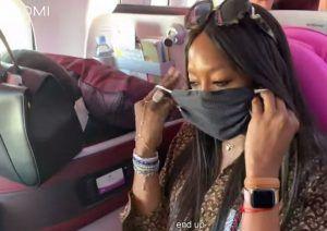 Naomi Campbell ha paura dei germi! ecco cosa ha fatto in aereo