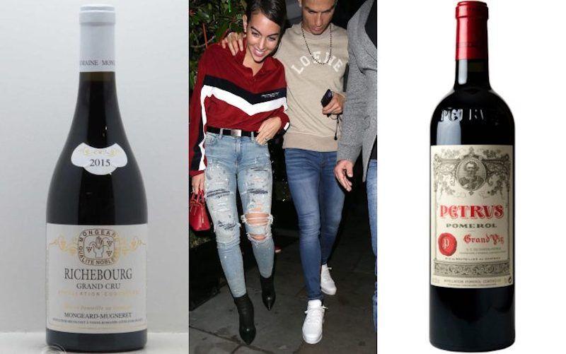 Cristiano Ronaldo e Georgina Rodriguez fanno faville ... vino per 31mila euro!
