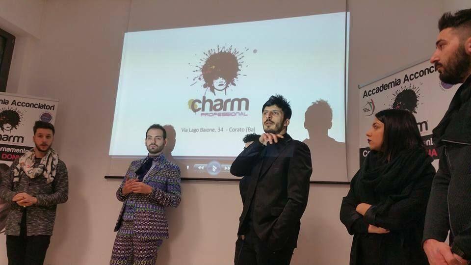 Vincenzo Maiorano è nello staff dei docenti del corso Avantgarde della Charm Hair School