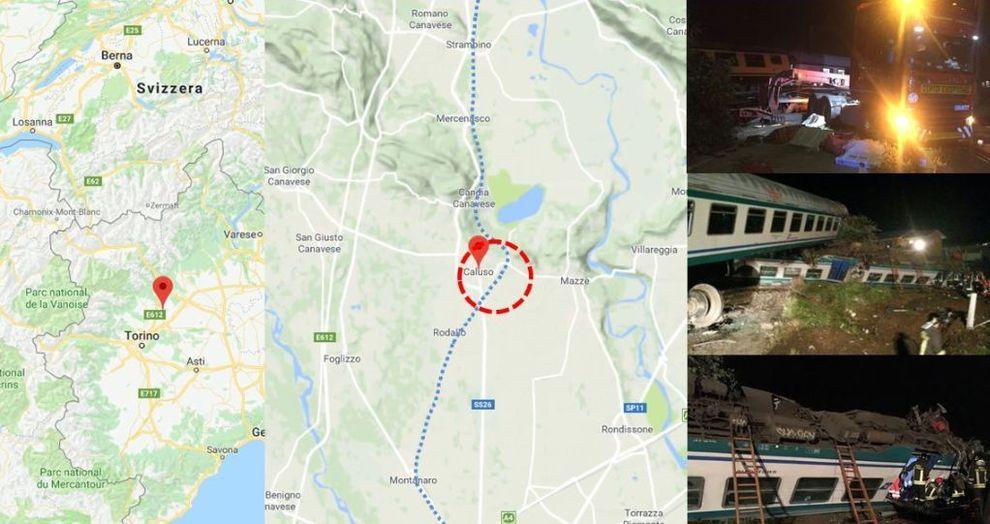 Incidente Ferroviario : Treno deragliato sulla Torino Ivrea, 2 morti e 18 feriti. Autista indagato per disastro