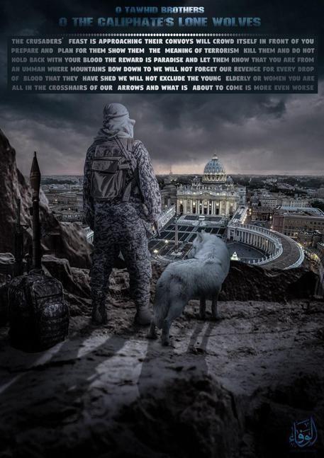 Per Natale Isis lancia appello a lupi solitari contro Roma