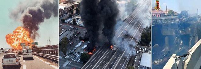 Bologna, esplode autocisterna : due morti e decine di feriti | Video