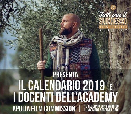 Conferenza Stampa all'Apulia Film Commission: presentazione Calendario 2019 di Fatti per il Successo