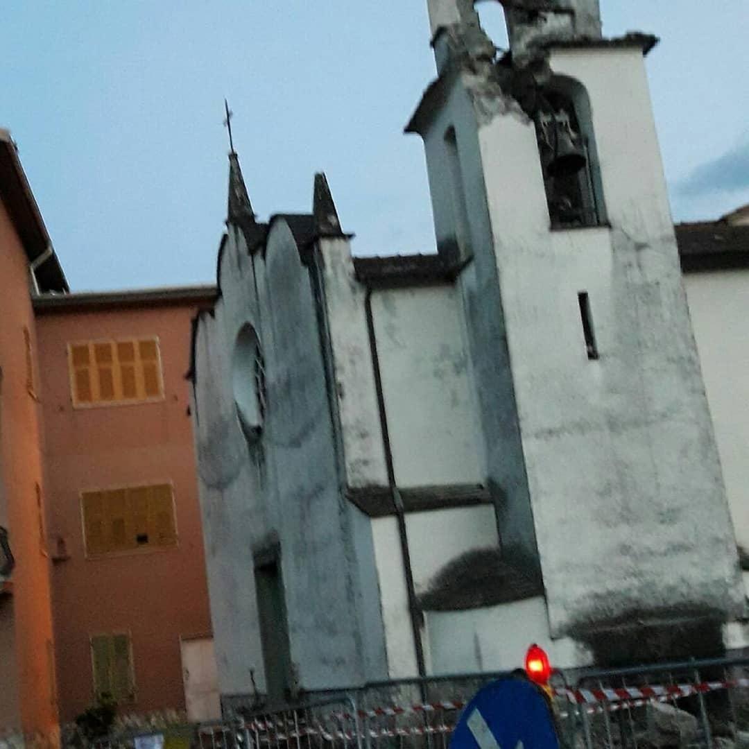 La Spezia : il campanile di Beverino crolla colpito da un fulmine