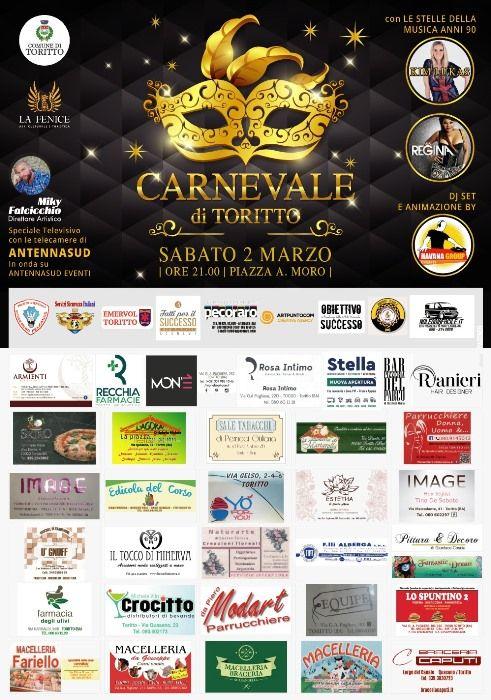 Carnevale 2019 in musica a Toritto con Kim Lukas e Regina