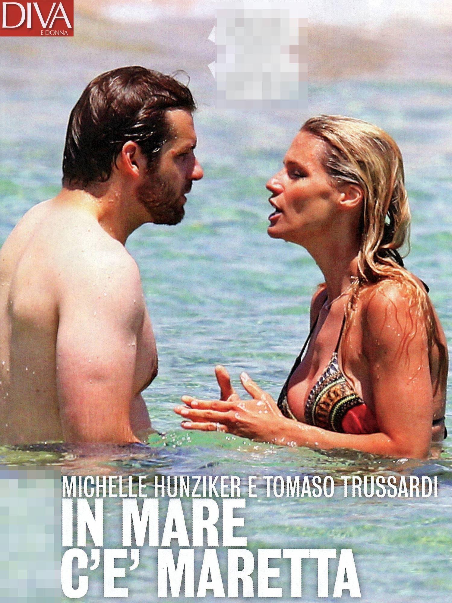 Michelle Hunziker e Tomaso Trussardi litigano di brutto