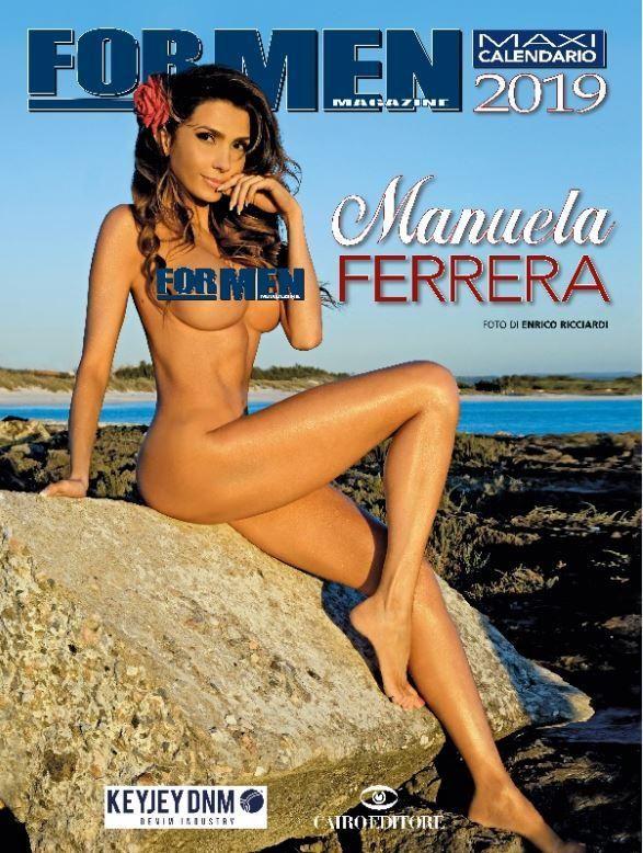 Manuela Ferrera mozzafiato per il calendario For Men 2019