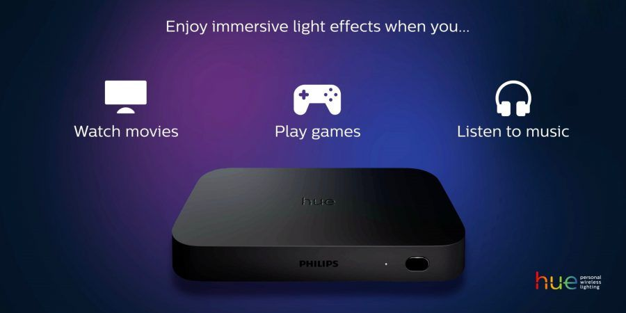 L'entertainment sbarca nella tua casa con Philips Hue Play HDMI Sync Box