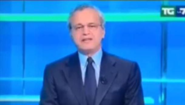 Enrico Mentana zittisce Matteo Salvini al TG La7