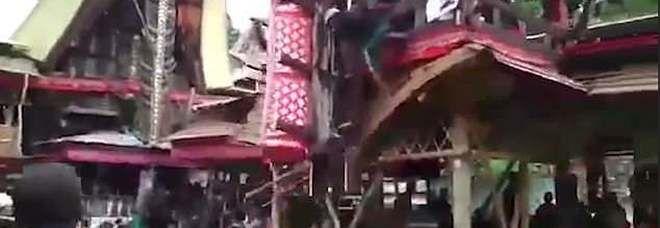 India : 40enne muore schiacciato dalla bara della madre al funerale | Video